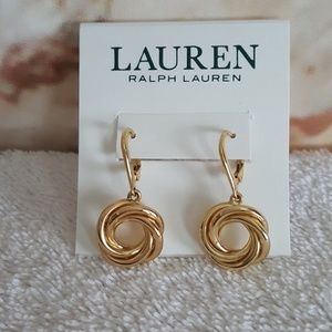 New Ralph Lauren Knot Drop Earrings